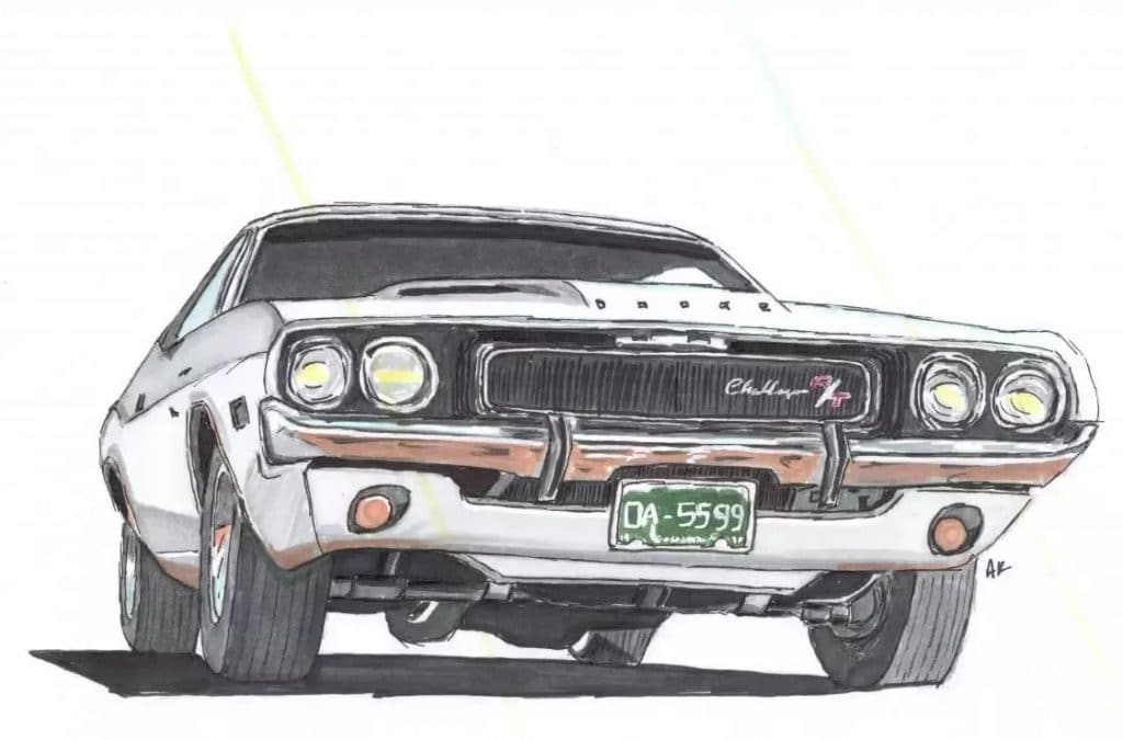 fff vanishing point 1970 charger illustrated