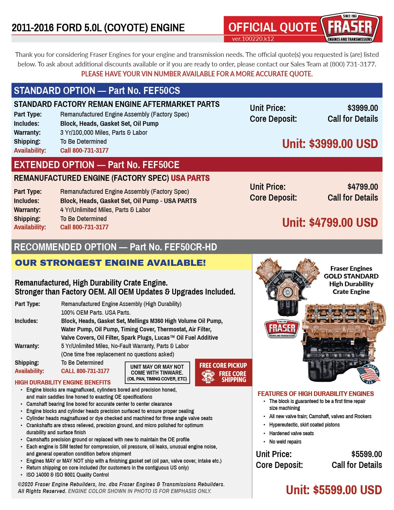 Ford 5.0L Coyote Engines